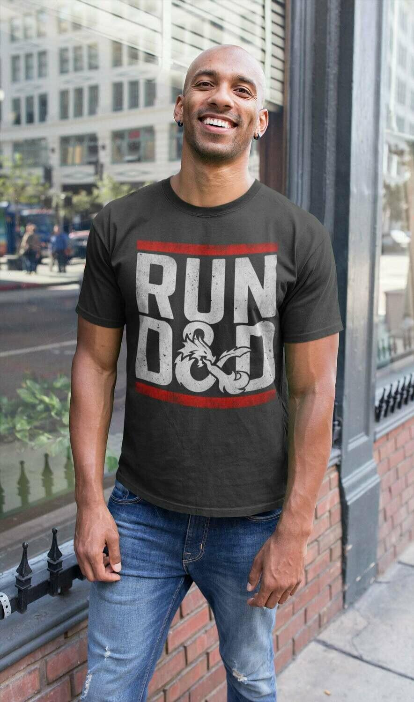 Dungeons Game D20- Run D&D T-Shirt- Tabletop Gaming Gift Shirt