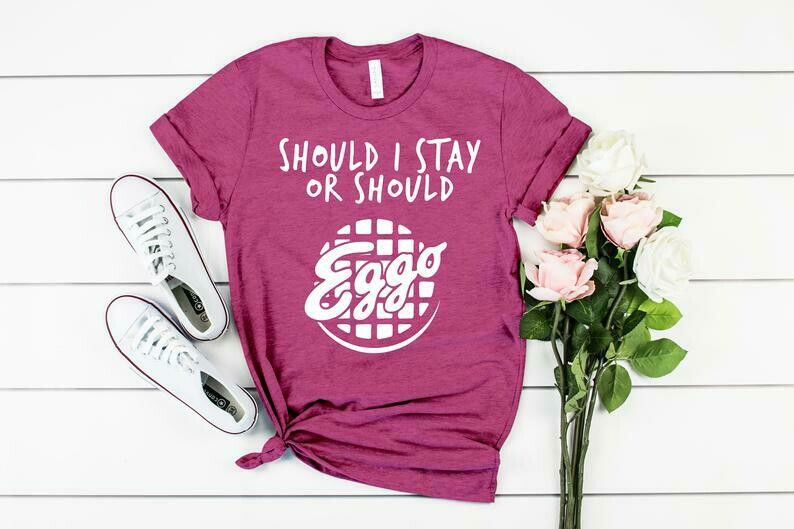 Should I Stay Or Should Eggo | Stranger Things Unisex Tshirt, Kids Youth Infant Shirt, Stranger Things Hawkins Shirt Indiana Stranger Thing
