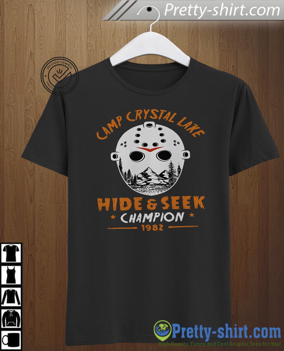 Camp Crystal Lake Hide & Seek Champion 1982 Halloween Tee Shirt Funny Killer Tshirt Inspired Horror Movie Tee Fall Camper Gift For Men Women