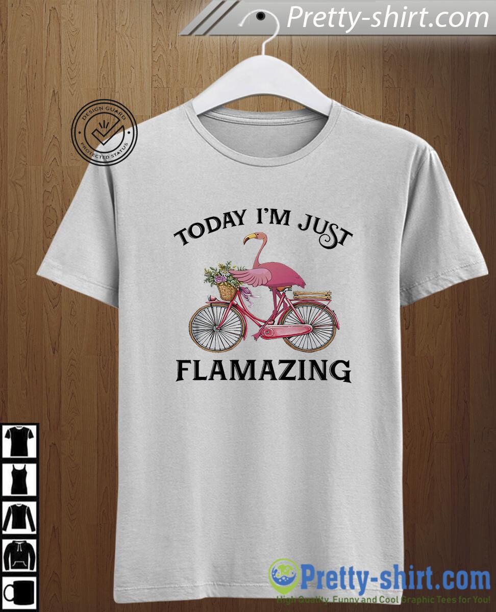 Flamingo today I'm just flamazing. Cute flamingo t-shirt for lady Women's tee funny gift flamingo lover biking , gift for women, funny halloween, gift for halloween, halloween tshirt, gift for men
