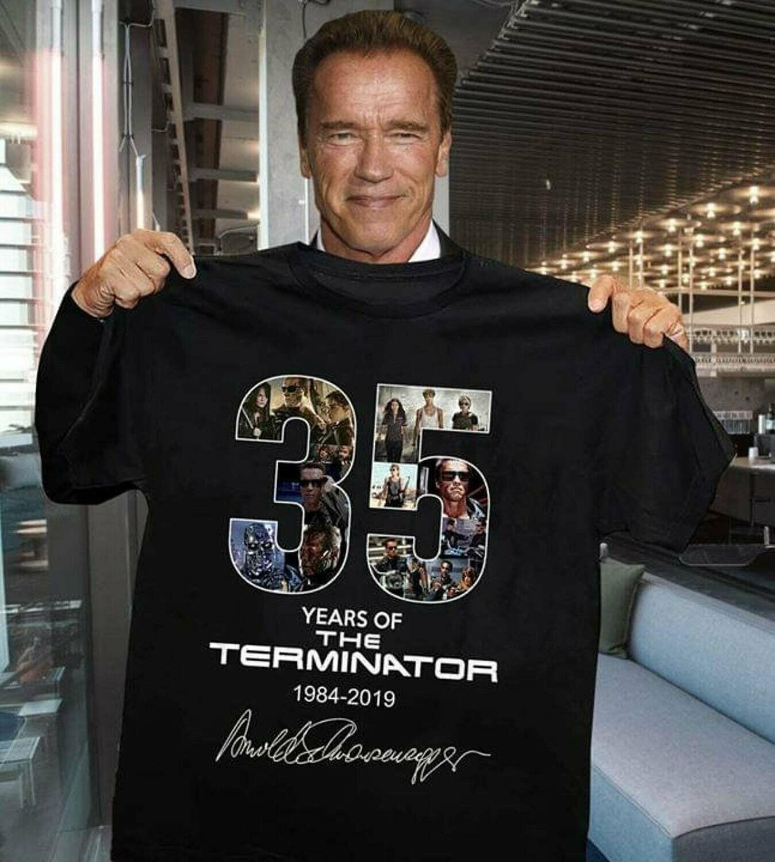 35 Years Of The Terminator Shirt - Terminator: Dark Fate - Perfect Gift Idea For Fans, shirt for women, signature Arnold Schwarzenegger, terminator, terminator 6, dark fate, terminator shirt, the term