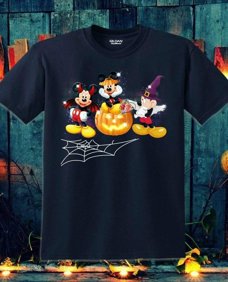 Disney Mickey Witch Vampire Halloween I'm going to Walt Disney Vacation Family Let's Go to Disney World Disneyland Tee Park T-Shirt, Mickey halloween, Mickey Holloween, Holloween Shirts, Disney Castle