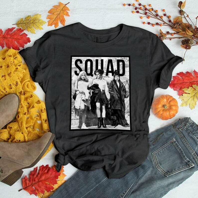 Squad Shirt   Hocus Pocus Shirt   It's Just a Bunch of Hocus Pocus Shirt   Halloween Shirt, funny halloween t-shirt, ladies autumn, halloween horror tee, horror villain shirt, 90s horror movie