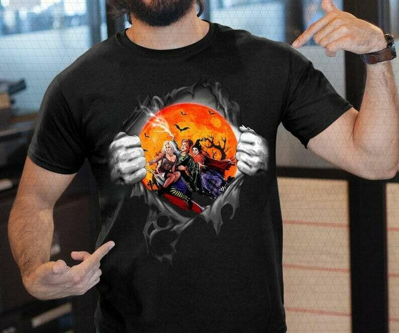 It's Just a Bunch of Hocus Pocus Shirt, Women Halloween Tshirt, cute fall graphic tee for women, funny halloween t-shirt, ladies autumn, halloween horror tee, horror villain shirt, 90s horror movie