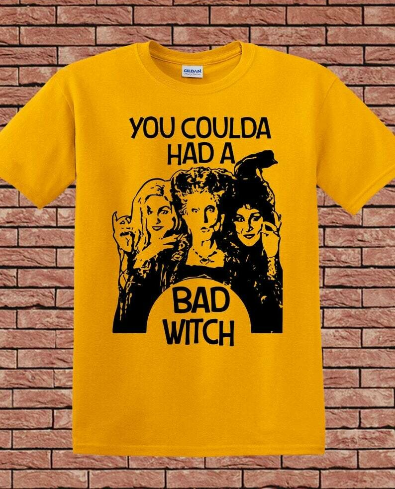 You Coulda Had A Bad Witch, Sanderson Sisters Funny Hocus Pocus Mandala Disney Villains Halloween Mickey Not So Scary T Shirt, halloween horror tee, horror villain shirt, 90s horror movie