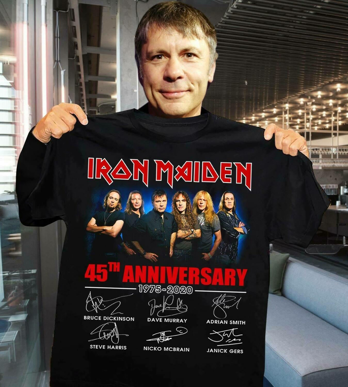 Iron Maiden 45th Anniversary 1975 2020 signature shirt | Unisex T-Shirt | Men's T-Shirt