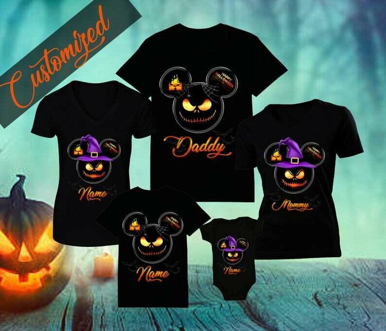 Halloween Disney Family Shirt Disney Family Shirts Mickeys Halloween Party Custom Disney Halloween Shirts Customized Name,  halloween shirt, halloween tshirt, happy halloween, halloween party