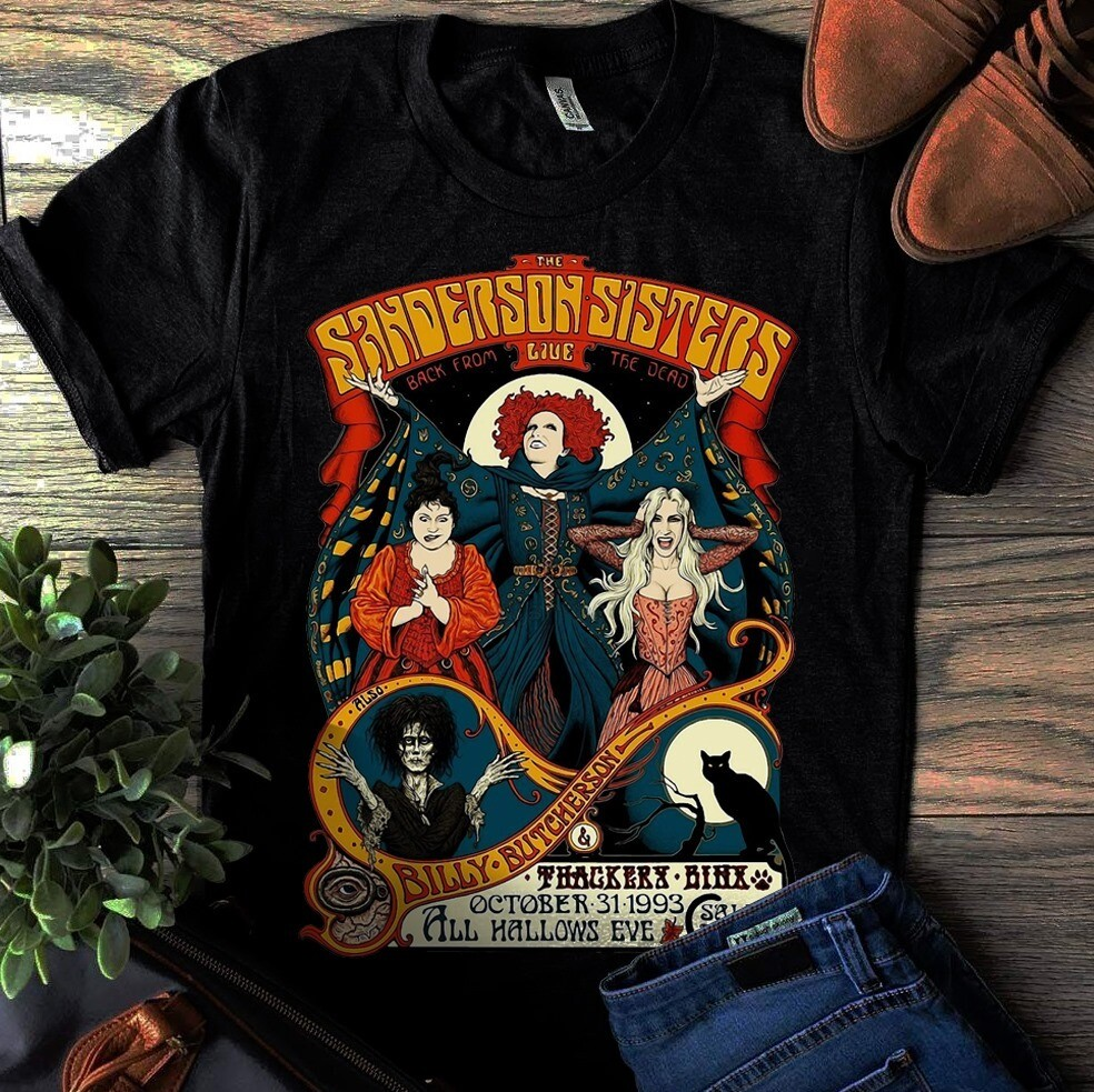 Sanderson Sisters T-shirt Gift For Halloween, Friends Bad Witch, witch Squad, witch Halloween, Hocus Pocus shirt, sarah sanderson, amuck shirt, sanderson sisters, witches shirt