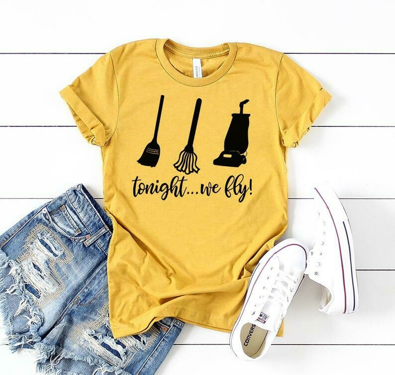 womens Halloween Shirts tonight we fly hocus pocus quote Cute Screen Printed Fast Shipping Quality Halloween Shirts,Womens Shirts, Graphic T-shirts Tee, Sayings On Shirts, Screen Printed
