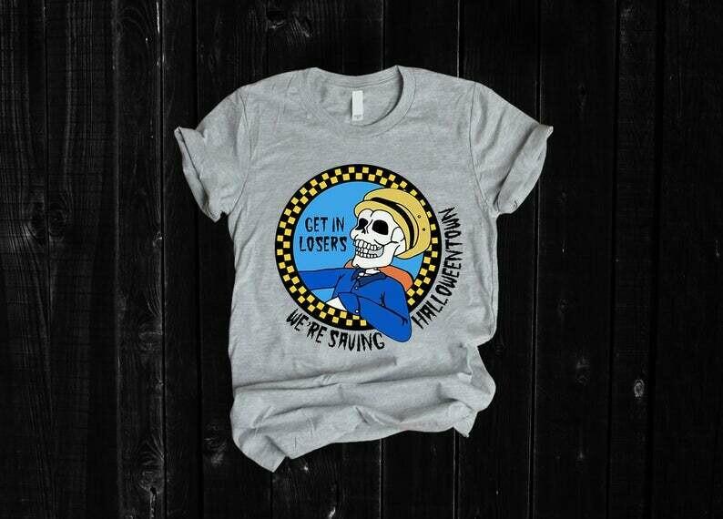 Get in losers we're saving halloweentown shirt, disney inspired, disney shirt, get in losers, saving halloweentown, halloween t-shirt, halloween tee, Benny shirt, Benny tee, halloween shirt, halloween