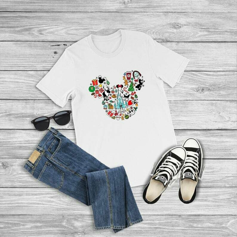 Mickey Christmas Shirt, Disney Christmas Shirt, Disney Shirt, Mickey Mouse Shirt, Disney Characters, The Nightmare Before Christmas Shirt,disney shirts,mickey mouse,minnie mouse,mickey shirt
