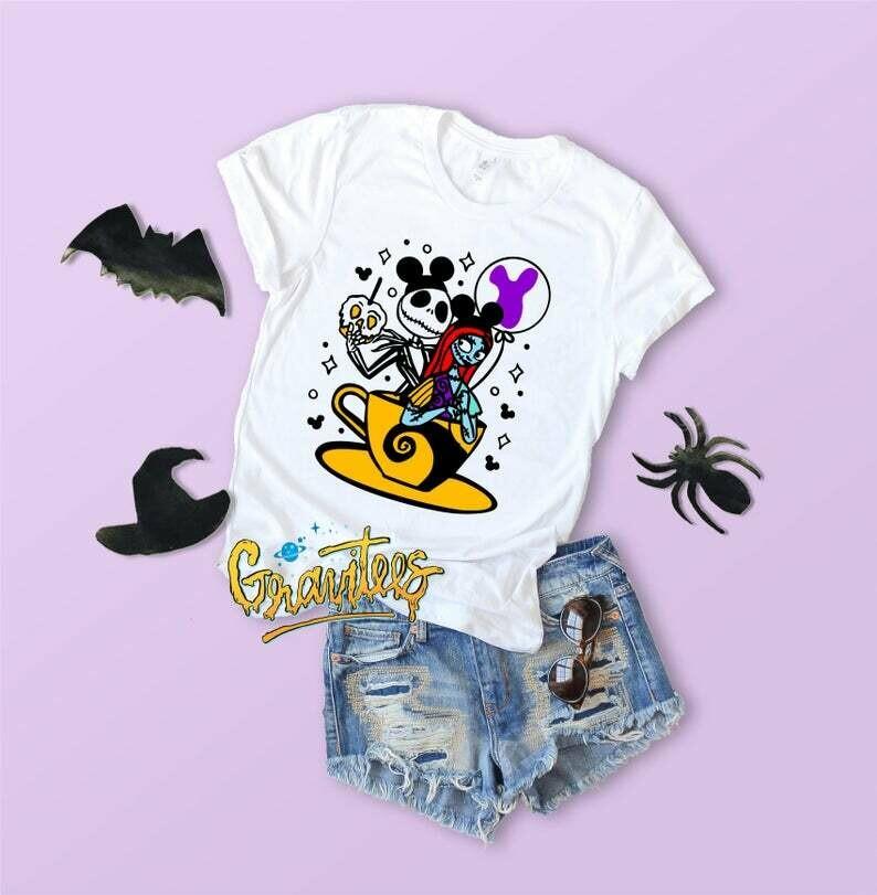 Jack and Sally Shirt, The Nightmare Before Christmas Shirt, Jack Skellington Shirt,halloween shirt,disney,halloween shirts,disney halloween,mnsshp,not so scary shirt,halloween disney,jack skellington