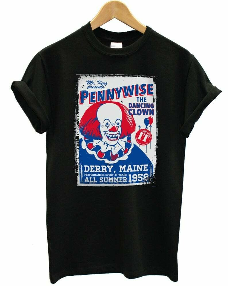 Pennywise the Dancing Clow Horror, squad goals shirt, Cute Autumn Shirts, freddy jason, myers leatherface, Fun Movie Halloween, Hocus Pocus Tshirts, Michael Myers, halloween monogram, Disney villains