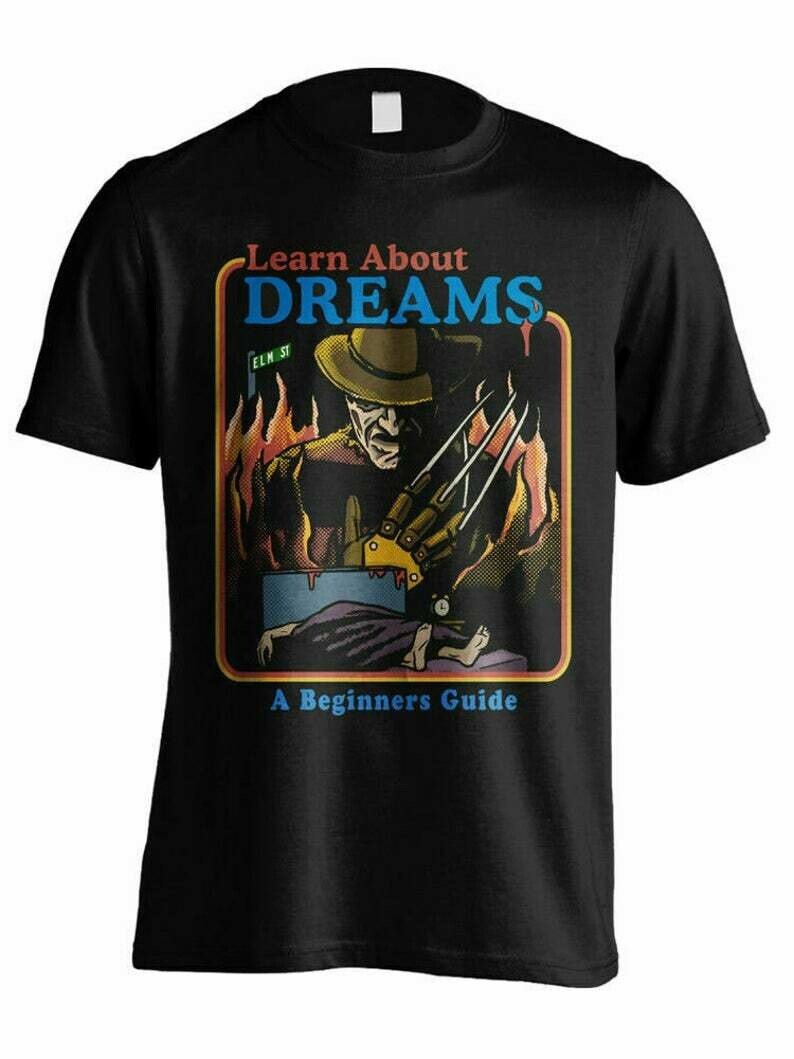 Freddy Krueger Art T-Shirt, A Nightmare on Elm Street Tee, squad goals shirt, Cute Autumn Shirts, freddy jason, myers leatherface, Fun Movie Halloween, Hocus Pocus Tshirts, Michael Myers, halloween