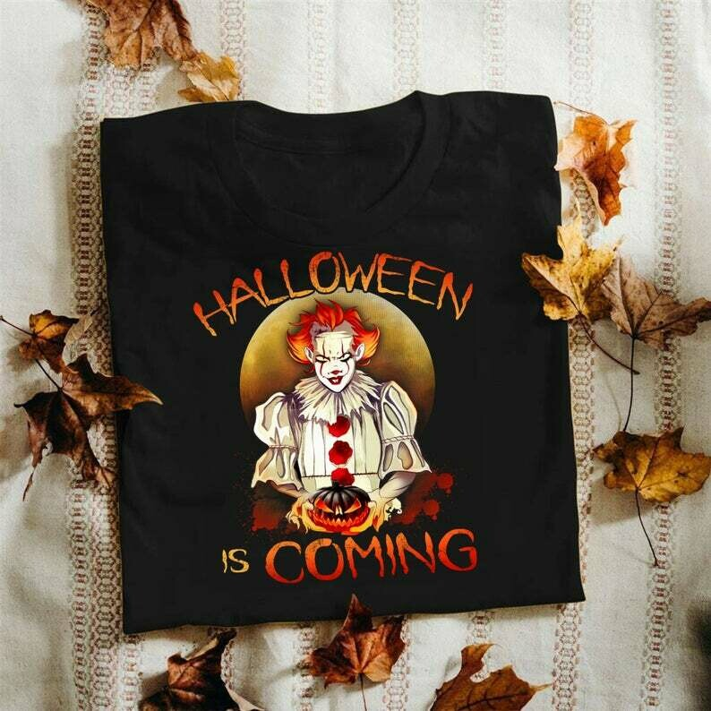 Jocker Halloween is Coming Horror Characters Pennywise Squad We All Float Down Here Squad Villains Movie Mashup T-Shirt, squad goals shirt, Cute Autumn Shirts, freddy jason, myers leatherface
