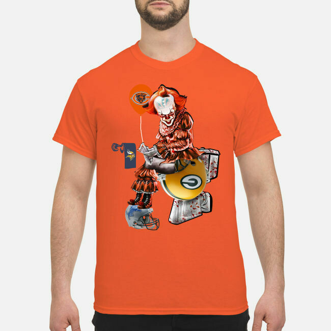Pennywise Chicago Bears sitting toilet Green Bay Packers shirt Pennywise Green Bay Packers Bears sitting toilet Chicago Bears shirt Vintage Chicago Bears Sweatshirt, Chicago Football Shirt, chicago