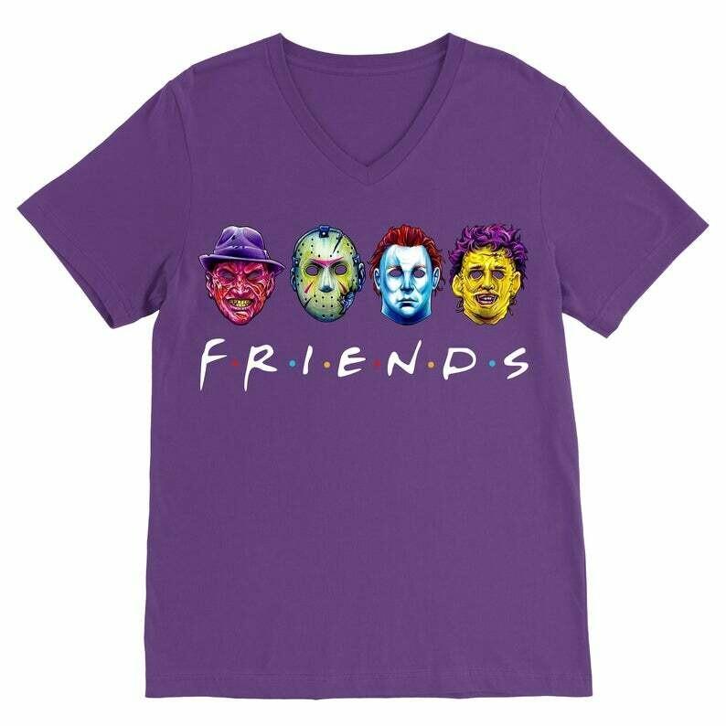 Horror Friends Squad Sinister Friends Villains Halloween Horror Movie Mashup T-shirt,Horror Friends,Sinister Friends,Squad Goals Shirt,Jason Voorhees,Myers Leatherface,Fun Movie Halloween,Hocus Pocus