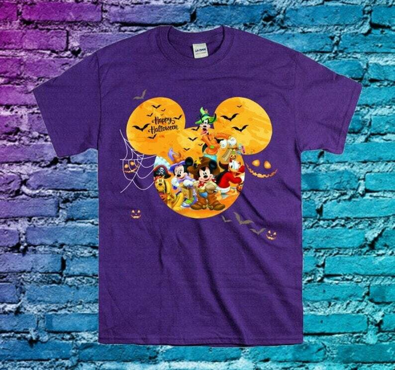 Disney Mickey Mouse Friends Happy Halloween Pumpkin Trick Or Treat I'm going to Walt Disney Vacation Family Let's Go to Disney World Shirt, Happy halloween, Halloween party Idea, Disney Women gifts