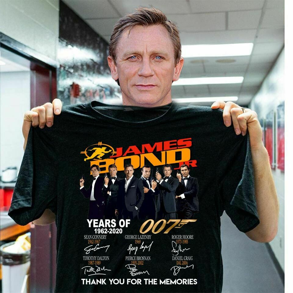James bond year of 1962-2020 thank you for Fan movie 007 goldeneye movie and filmVintage 90s james bond 007 goldeneye movie and film, vintage shirt, james bond 007, james bond movie