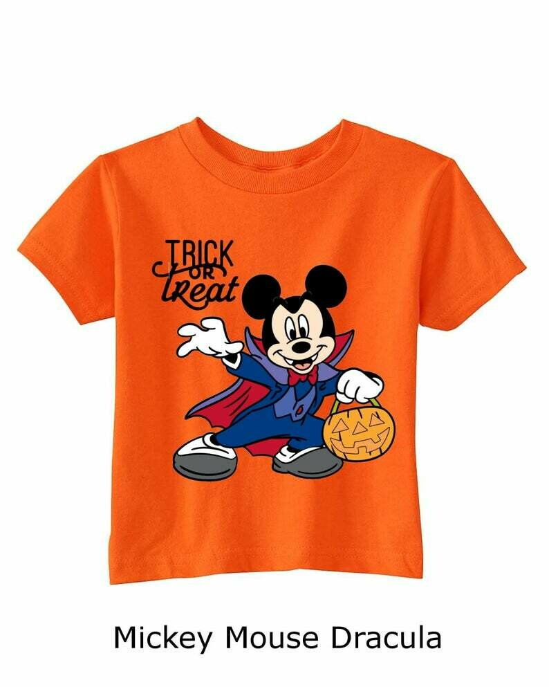 Disney Halloween Toddlers' Trick or Treat Tees, halloween, trick or treat, halloween tshirts, trick or treat tees, halloween costumes, disney, mickey mouse, minnie mouse, Goofy, Pluto,  donald duck
