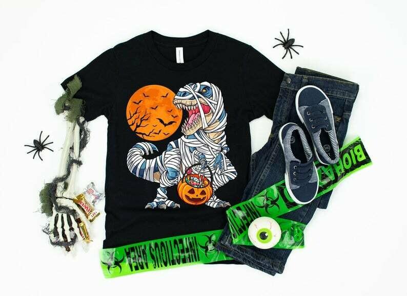Dinosaur Halloween Shirt / Dinosaur T-rex / Happy Halloween / Trick or Treat / Jack O Lantern / T rex Pumpkin, dinosaur halloween, dinosaur t-rex, happy halloween, t rex pumpkin, trick or treat