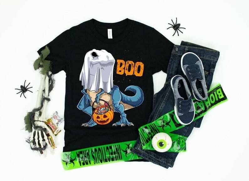 Dinosaur Halloween Shirt, Dinosaur T-rex, Happy Halloween, Trick or Treat, Jack O Lantern, T rex Pumpkin, dinosaur halloween, dinosaur t-rex, happy halloween, t rex pumpkin, trick or treat