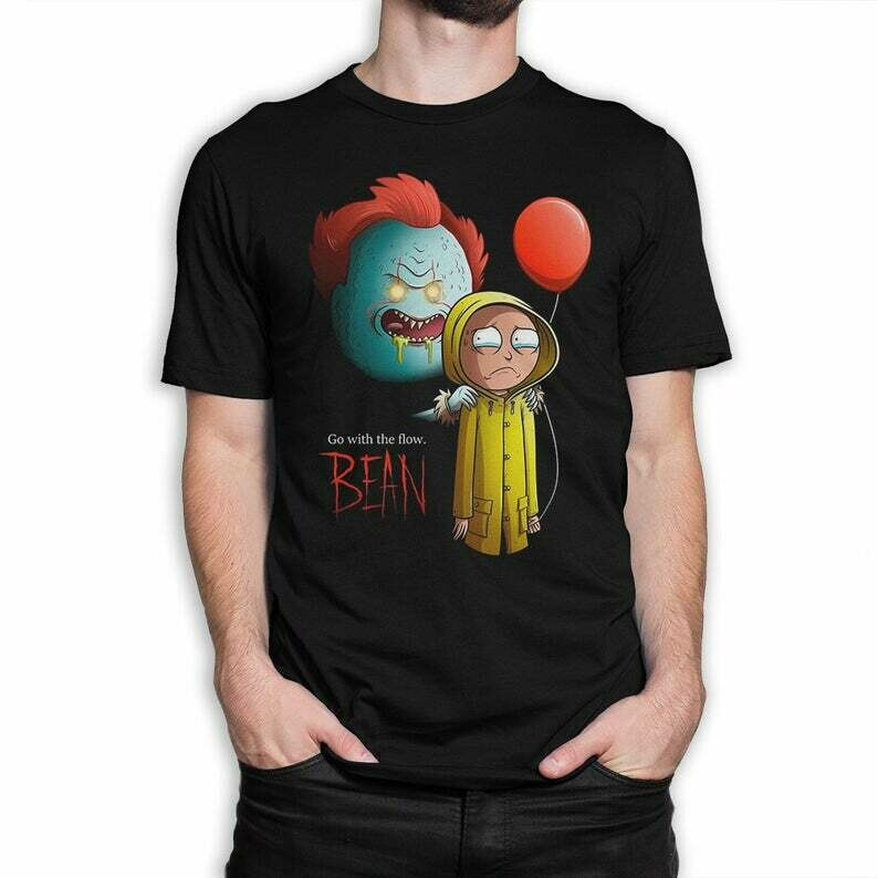 Rick Sanchez x Pennywise IT Funny T-Shirt, Squad Tee T-Shirt, Inspired Pennywise, Hocus Pocus Tshirts, Halloween Cosplay, Halloween Costume, Squad Goals Shirt, Cute Autumn Shirts, Halloween Monogram