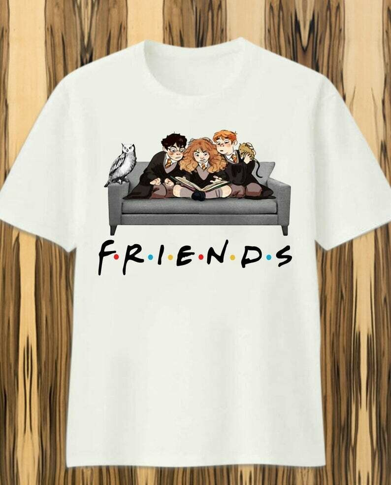 Friends - Harry potter Patronus Daniel Radcliffe Emma Watson And 14 Years 1997 2011 Hogwarts Castle Family Vacation Movie Fans T Shirt, HARRY POTTER LOVER, HARRY POTTER GIFT, Harry Potter Glasses