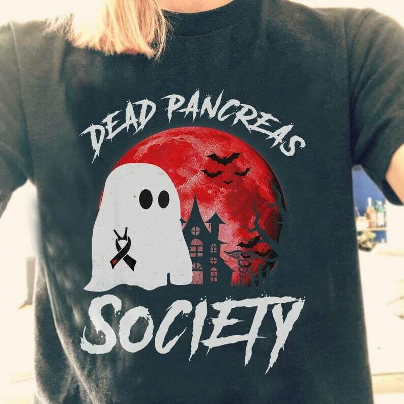 Dead Pancreas Society Bee Pink Warrior Breast Cancer Awareness Survivor Ghost Boo Bees Horror Halloween Horror Halloween Squad T Shirt, Boo Bees Halloween, Bees Funny Shirt, Bee Clothing