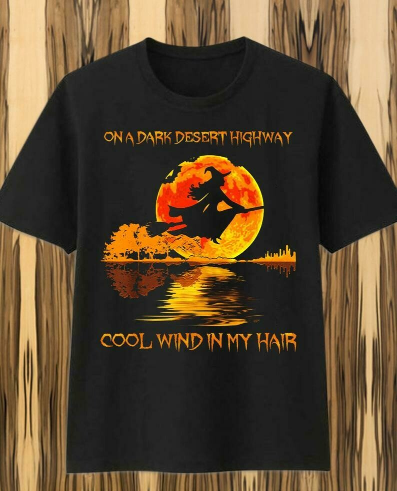Witch Guitar Lake Shadow On A Dark Desert Highway Cool Wind In My Hair Bad Girls In The Moonlight Gifts For Love Grandmalife Mom NanaT-shirt, gift for mama mimi, gift for grandma, gift for grandmother