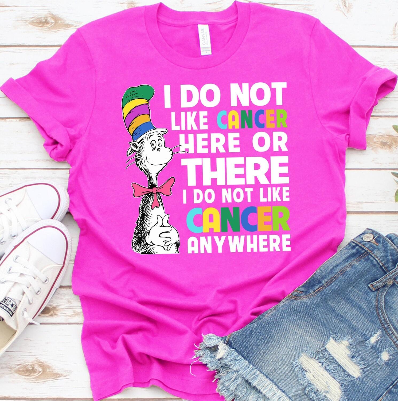 I do NoT like Cancer! Cancer awareness, cancer ribbon applique, cancer design, cancer embroidery, Don't like cancer, cancer ribbon, cancer awareness, Cancer Patient, Cancer gift, breast cancer