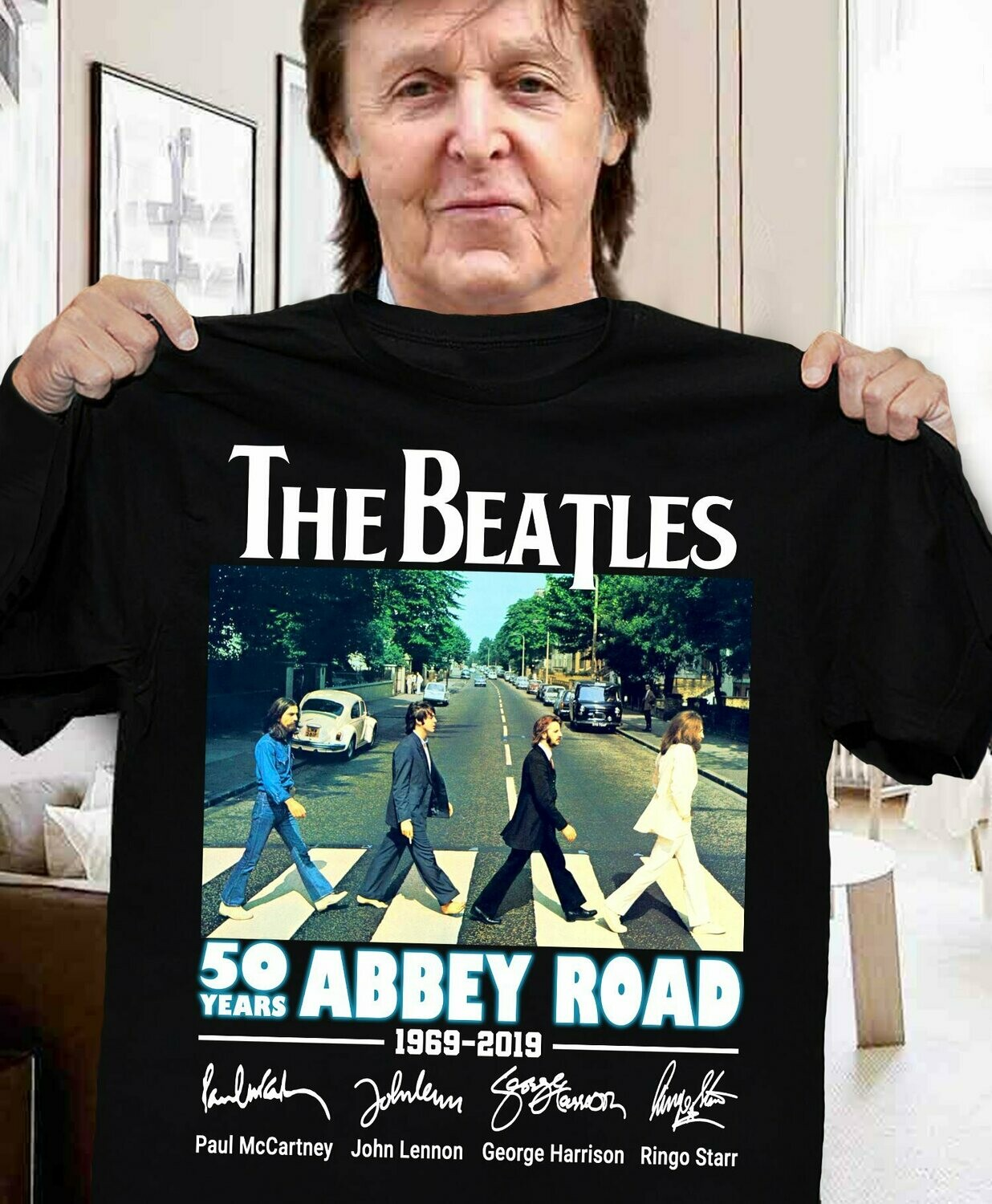 THE BEATLES tshirt abbey road Retro rock music T shirt, THE BEATLES Stage Photo Logo T-Shirt, Classic Rock Band Legend, Beetles Retro Vintage Tribute to the Old Masters Abbey Road, pedestrian crossing