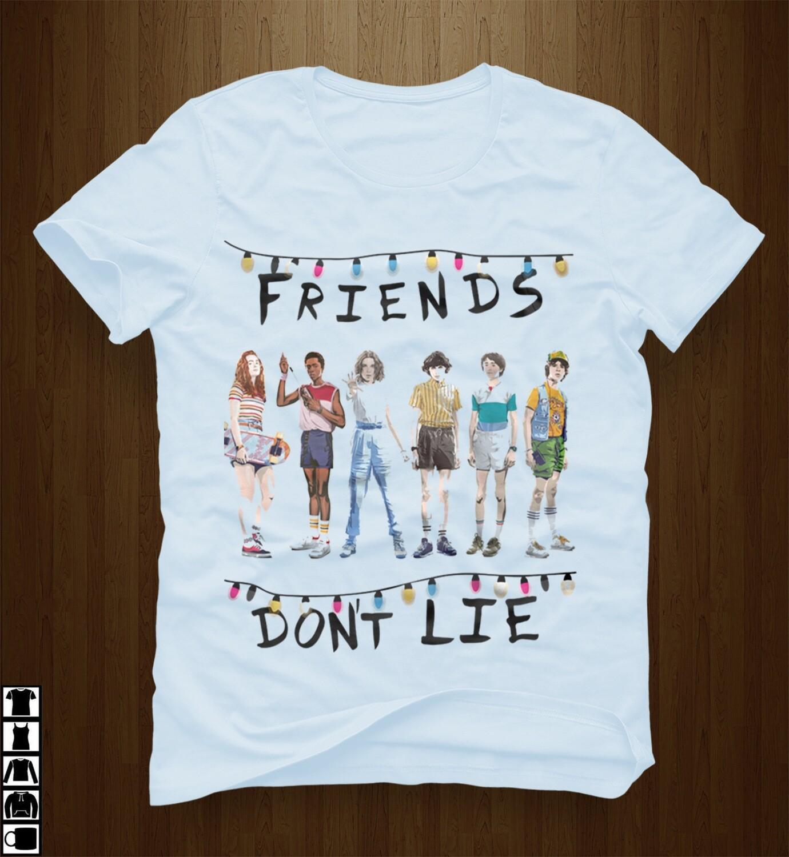 Friends Don't Lie Stranger Things Season 3 Hilarious Hawkins High School Steve Billy Eleven Upside Down Demogorgon Netflix TV Series T Shirt, stranger 3 shirt, things 3 shirt, Stranger Things show