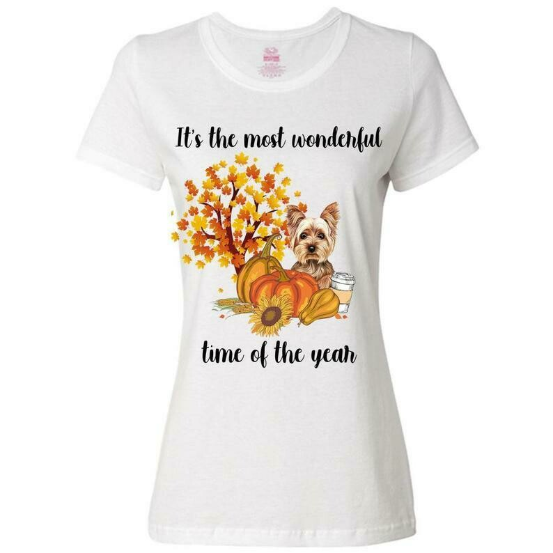 Its the most wonderful time of the year Yorkie shirt, dog autumn shirt, yorkie fall shirt, yorkie wonderful shirt, yorkie autumn shirt, Dog Mom Shirts, Fall Shirts Women, Cute Fall Shirts