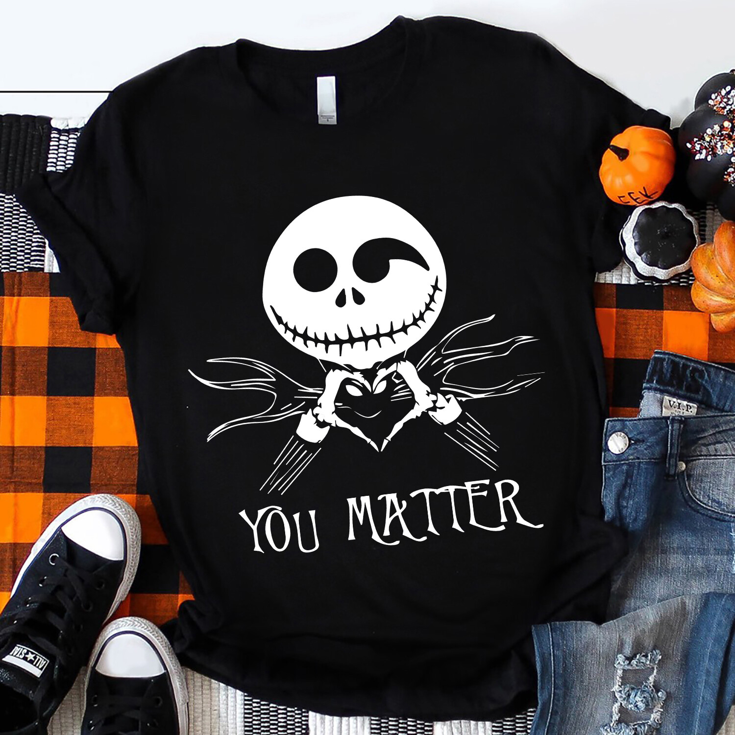 You matter Jack Skellington Shirt, Nightmare Before Christmas, Disney World, Disney Land, Matching Family Shirts, spooky designs, glow in the dark, family shirts, nightmare before, jack and sally tee