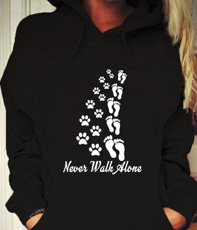 I'll never Walk Alone dog love shirt, Dog Lover Shirt, Dog Shirt, Never Walk Alone, I Love Dogs, For Dog Lovers, Love My Dog T-Shirt, Puppy Shirt, Puppy Love Shirts, Puppy Lover