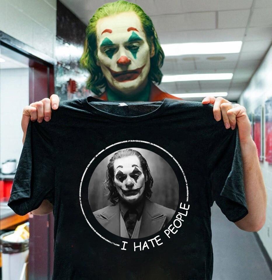 I hate people Joaquin Phoenix Joker 2019 Joker Villain Halloween Horror Movie T-Shirt, Joker 2019 shirt, Joaquin Phoenix, Joker T shirt, Joker Costume, Fun Movie Halloween, Hocus Pocus Tshirts