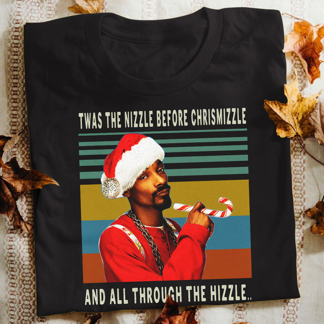 Snoop Dogg christmas Twas the nizzle before chrismizzle and all through the hizzle ugly christmas sweater santa ,Snoop Christmas Design, Christmas Sublimation design, Snoop Twas The Nizzle shirt