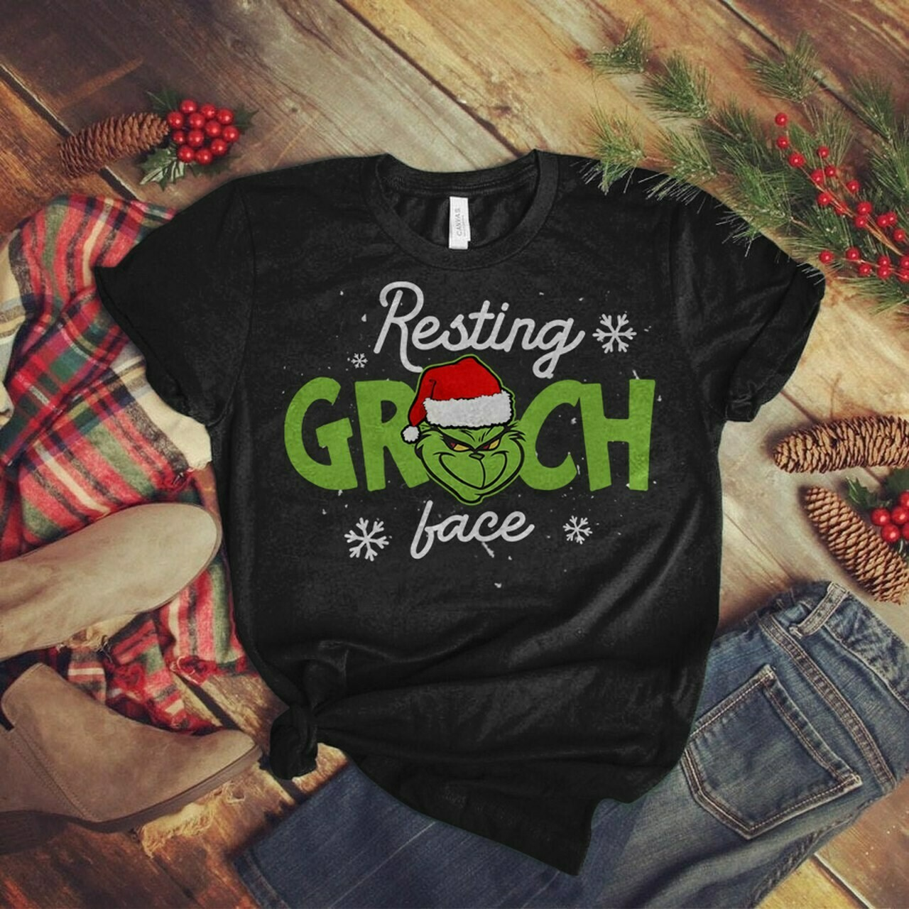 Resting Grinch Face Shirt, Funny Christmas Grinch T-Shirt, Resting Grinch Face, Grinch Face Shirts, Grinch Christmas Tee, Grinch T-Shirts, Christmas Shirts, Christmas T-Shirt, Grinch Movie Shirts