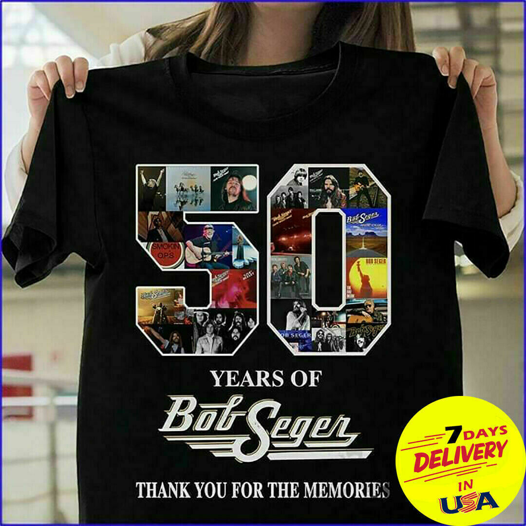 50 YEARS OF BOB SEGER Thank You For The Memories T-Shirt, Some of us grew up listening to bob seger the cool ones still do T-shirt -bob seger Gifts for Fans-bob seger clothing-bob seger designs tee