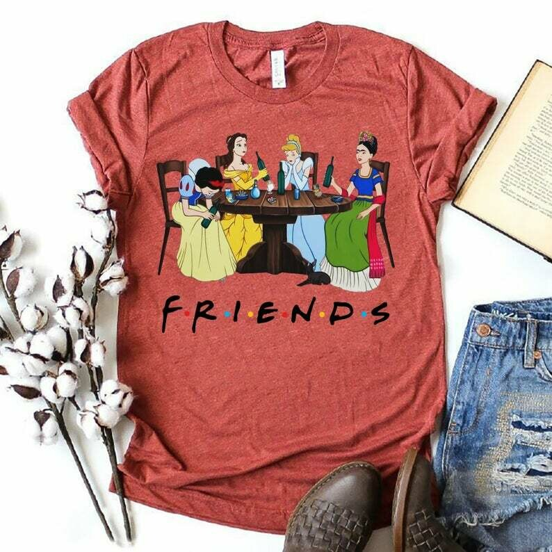 Friend Disney Princesses Drink Alcohol I'm going to Walt Disney Vacation Family Mickey Mouse Disney World Disneyland Tee Park T Shirt, Friend Princesses, disney women gifts, disney castle shirts