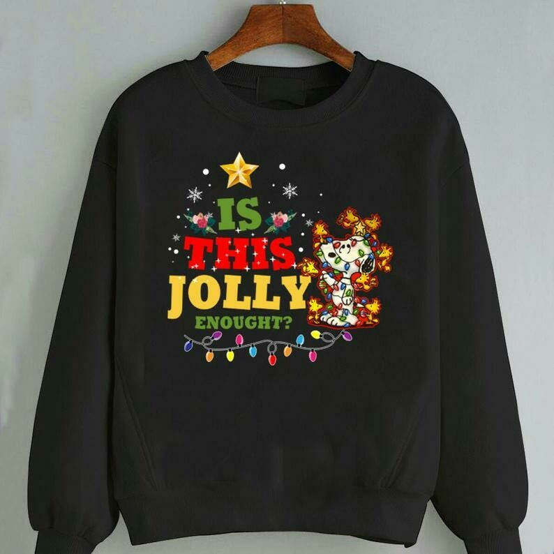 Is This Jolly Enough, Snoopy Cute Christmas Sweatshirt 2019, Snoopy Merry Christmas Sweatshirt, Cute Snoopy shirt, Christmas Gift, Snowflake, Disney shirt, Disney Family Shirts, Snowmen, Snowflake tee