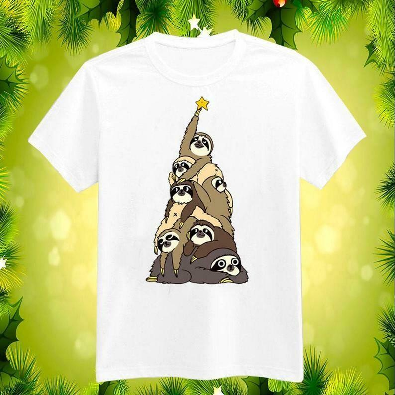 Sloth Christmas Shirt, Sloth Christmas Tree Shirt, Sloth Lover Shirt, Gift For Sloth Lover, Sloth Tshirt, Ugly Christmas Sweaters Hoodie, christmas shirt, shirt for christmas, gift for christmas tee