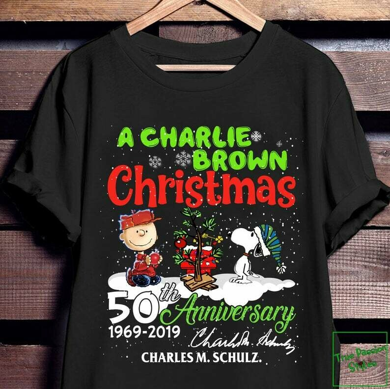 Charlie Brown and Snoopy 50th Year Anniversary Christmas T-shirt, Sweater, Hoodie - Snoopy Charlie Holiday Party Tee Shirt, snoopy Christmas, Snoopy shirt, Christmas Shirt, Sweet Christmas tee