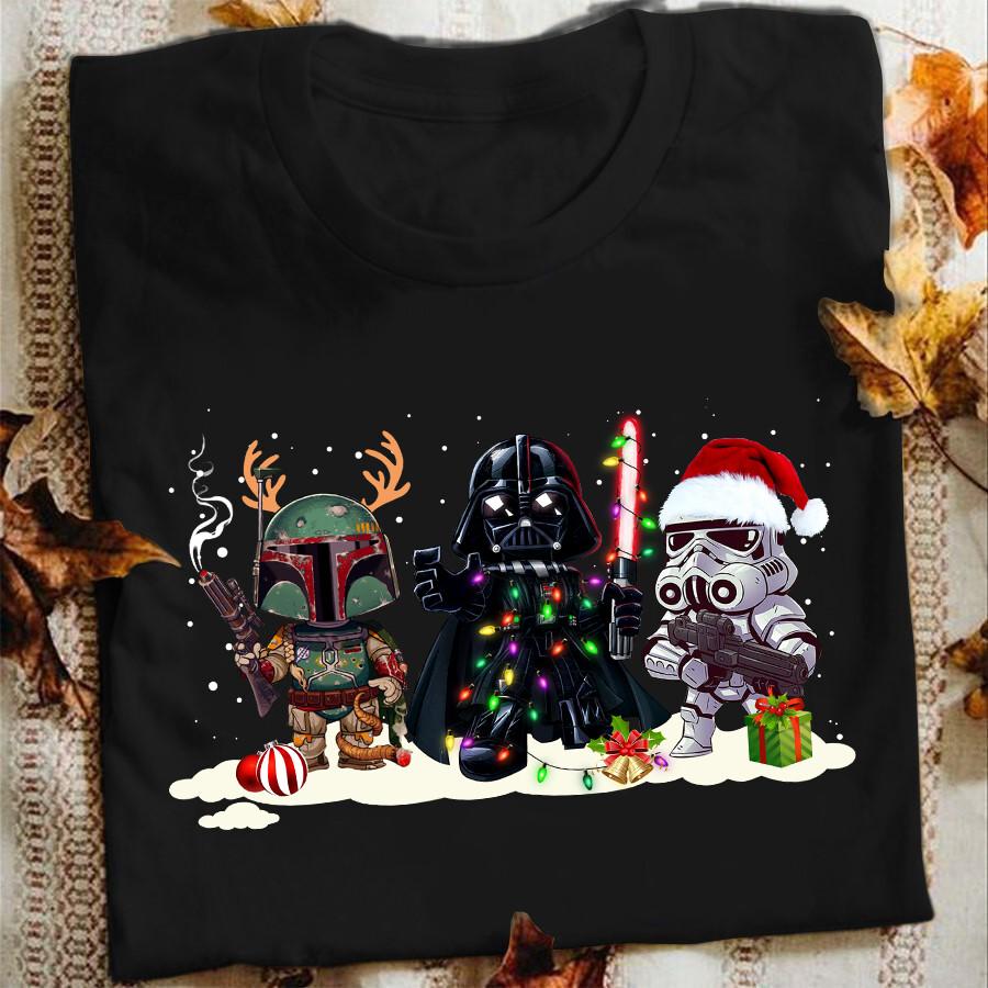 Boba Fett Darth Vader Stormtrooper Christmas Shirt, Hoodie, Sweatshirt, Long Sleeve, Tank Top, Alex Bregman Should've Walked Me Shirt, Official Star Wars Luke Skywalker T-shirt for Star Wars Lovers
