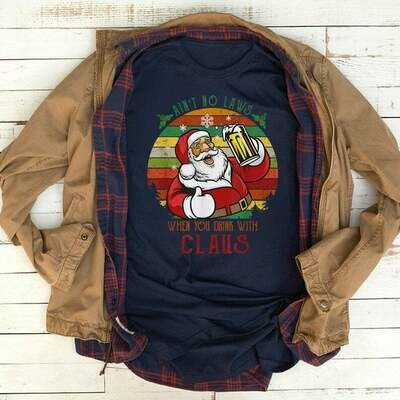 Christmas Shirt Ain't No Laws Santa Claws.Christmas Is Coming Funny Santa Claus Drinking Noel Gift For Men & Women For Xmas Holiday, Christmas Sweatshirt, Funny Santa Shirt, White Claw Shirt
