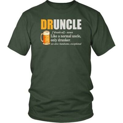 Druncle shirt Funny Uncle Gift Shirt Druncle Definition Shirt Gift For Uncle Drunk Uncle Shirt - District Unisex Shirt, funny uncle shirt, uncle gift shirt, funny uncle gift, drunk uncle shirt