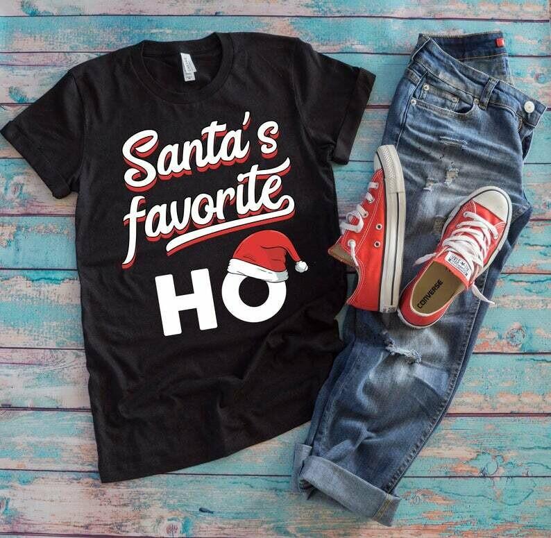 Santa's Favorite Ho Christmas Adult Humor Where My Ho's At Naughty Girl Christmas Costume, Santa's favorite ho, Christmas ho shirt, Christmas pajamas, funny xmas pajamas, Christmas adult gift tee