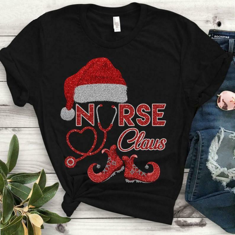 Santa's Favorite Nurse shirt - Nurse Claus Christmas Tshirt - Matching Family Group Xmas Gift Tee Shirt - Women size and Unisex T-Shirt, Santa Nurse, Nurse Claus, Nurse Christmas tee, Nurse xmas tee