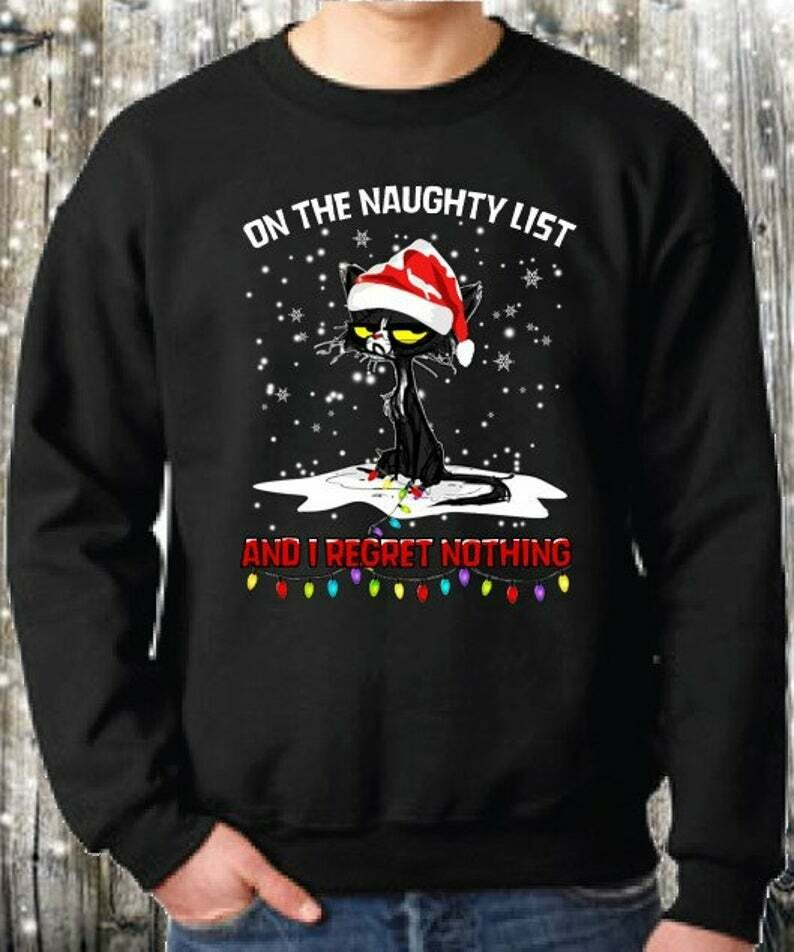 Cat Satan On The Naughty List And I Regret Nothing,Merry Christmas Cat,Meow Merry Cat,Cat Lover Gifts,Merry Catmas shirt, Cat Mom Christmas, Merry Christmas Cat, Meow Merry Cat, Cat Lover Gifts, Funny